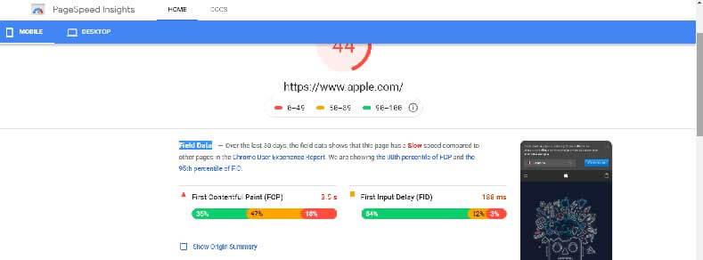 تست سرعت سایت Page-Speed-Insights