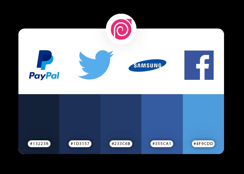 رنگ آبی در طراحی نشان