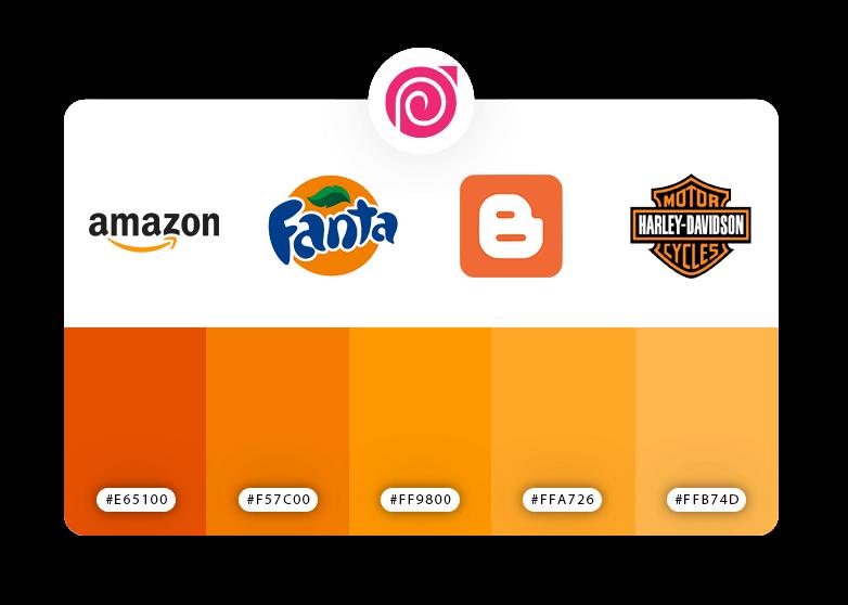 رنگ نارنجی در طراحی بنر