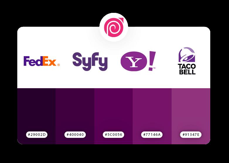 رنگ بنفش در طراحی لوگو
