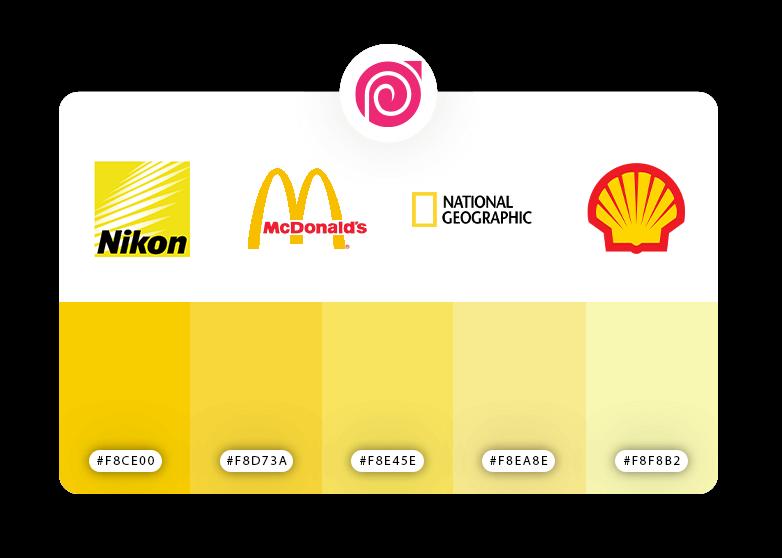 رنگ زرد در طراحی کارت ویزیت
