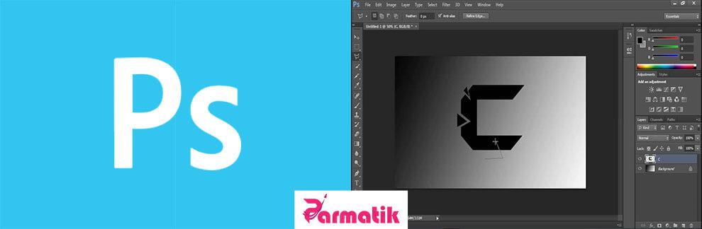 نرم افزار photoshop برای طراحی لوگو