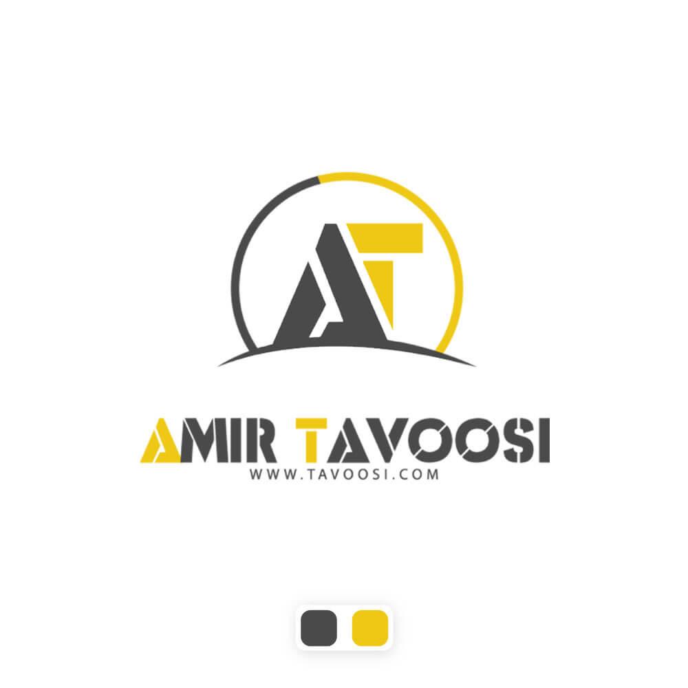 نمونه کار طراحی لوگو اسم امیر طاووسی