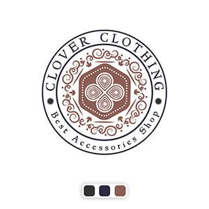 طراحی لوگو emblem کلاور کلوزینگ