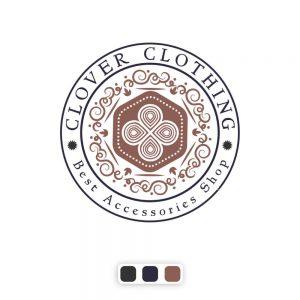 نمونه کار طراحی لوگو مدرن و تجاری کلاور کلوزینگ