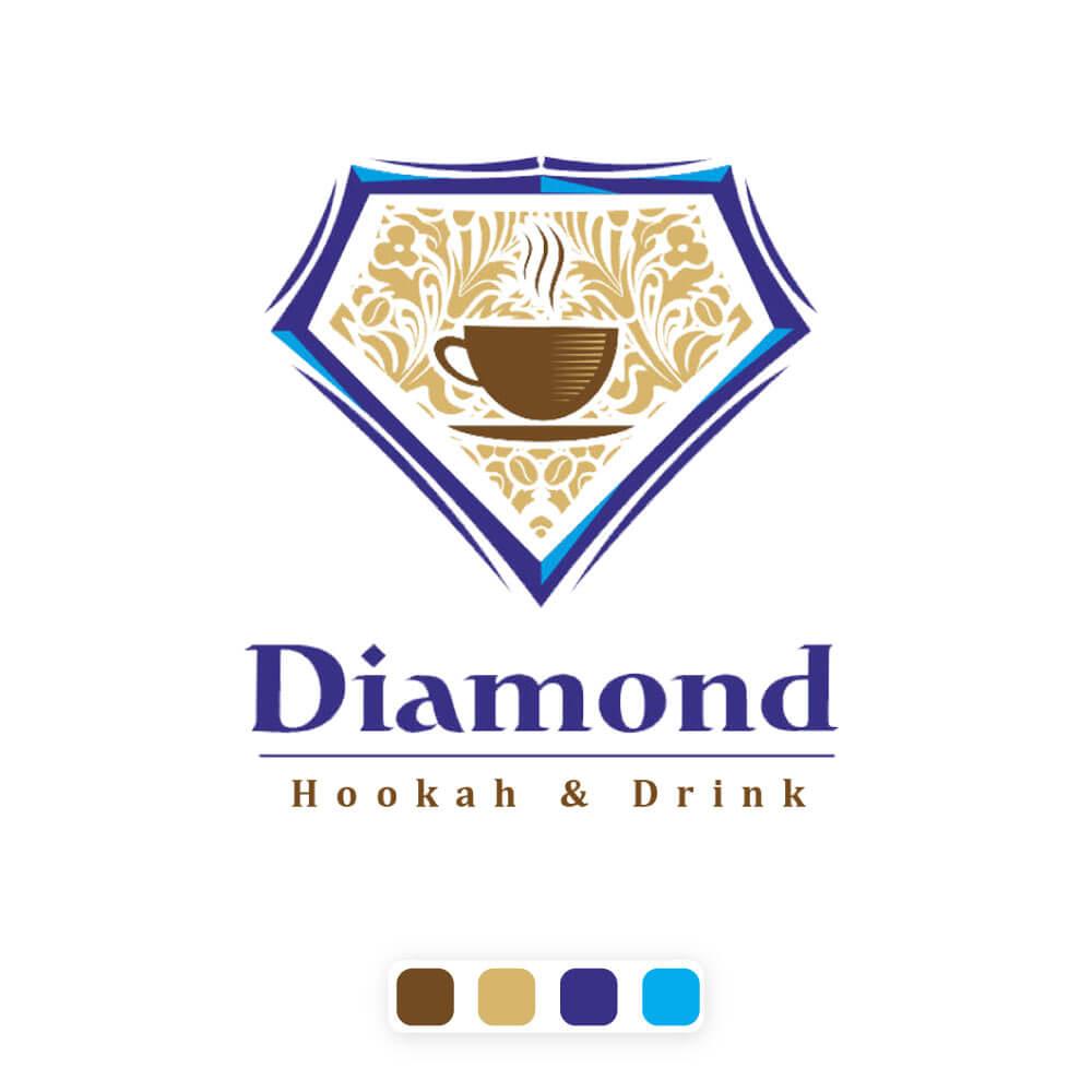 نمونه کار ساخت لوگو کافه دایموند