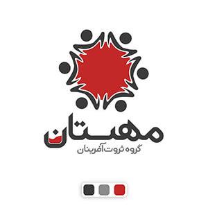 طراحی حرفه ای لوگو گروه ثروت آفرینان مهستان - تایپوگرافی