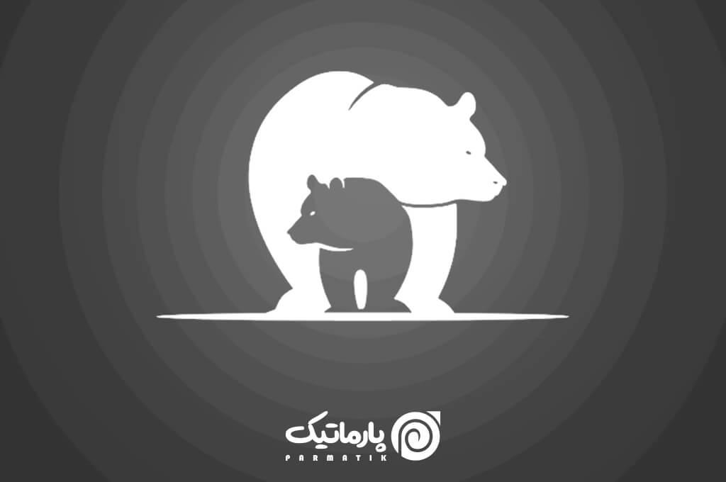 فضای منفی در طراحی لوگو