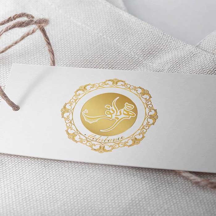 موکاپ لیبل محصولات مهربانو