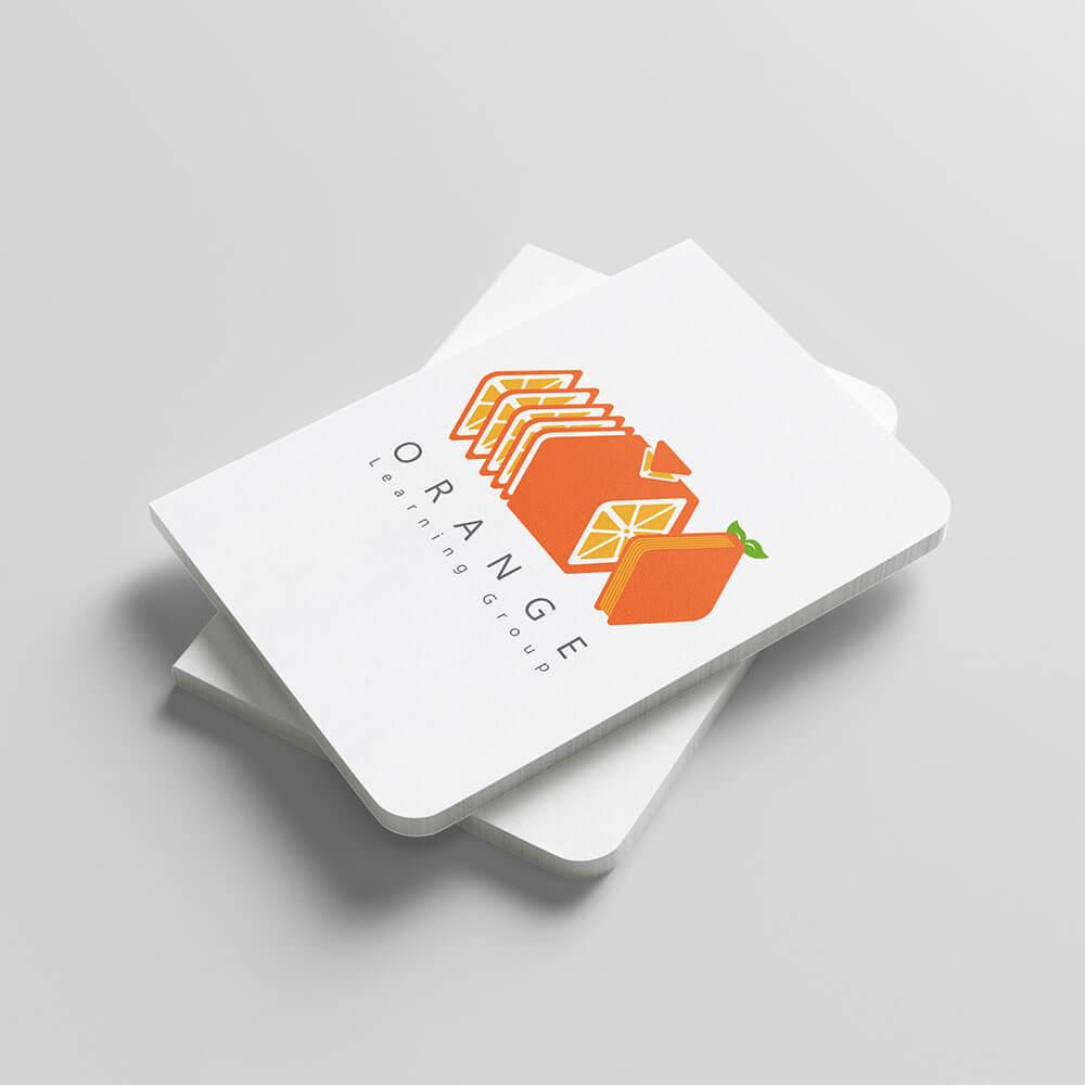 موکاپ سفارش طراحی لوگو گروه آموزشی پرتقال