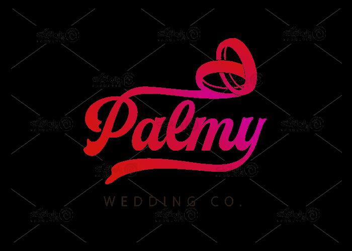 سفارش طراحی لوگو تایپوگرافی پلتفرم مراسمات ازدواج پالمی