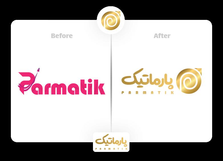 ریدیزاین لوگو   طراحی مجدد لوگو پارماتیک