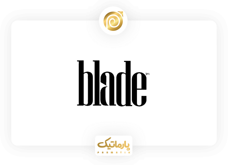 لوگو تایپ تیغ یا Blade با متد فضای خالی