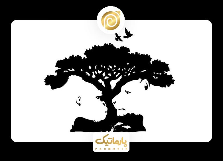 استفاده از فضای خالی در طراحی لوگوی باغ وحش