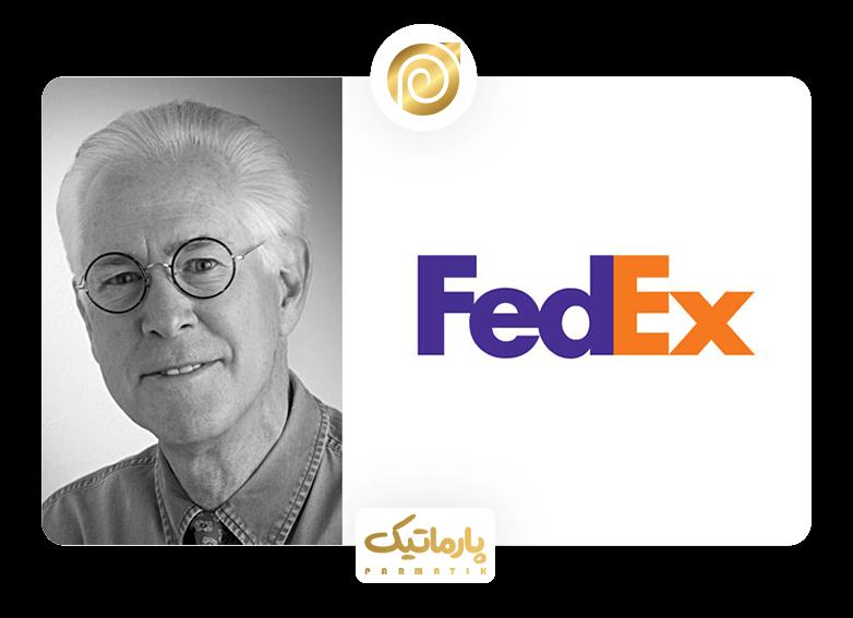 طراحی لوگوی شرکت fedex با متد فضای خالی