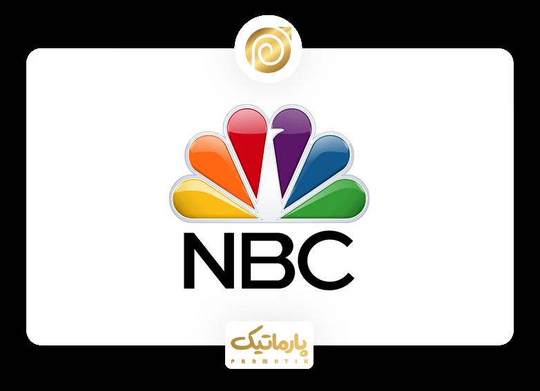 لوگو شبکه NBC و فضای خالی استفاده شده به شکل طاووس