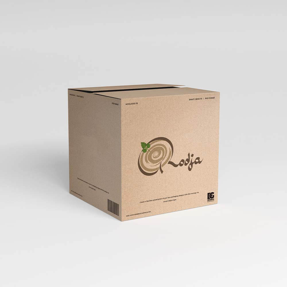 موکاپ جعبه رستوران های روجا