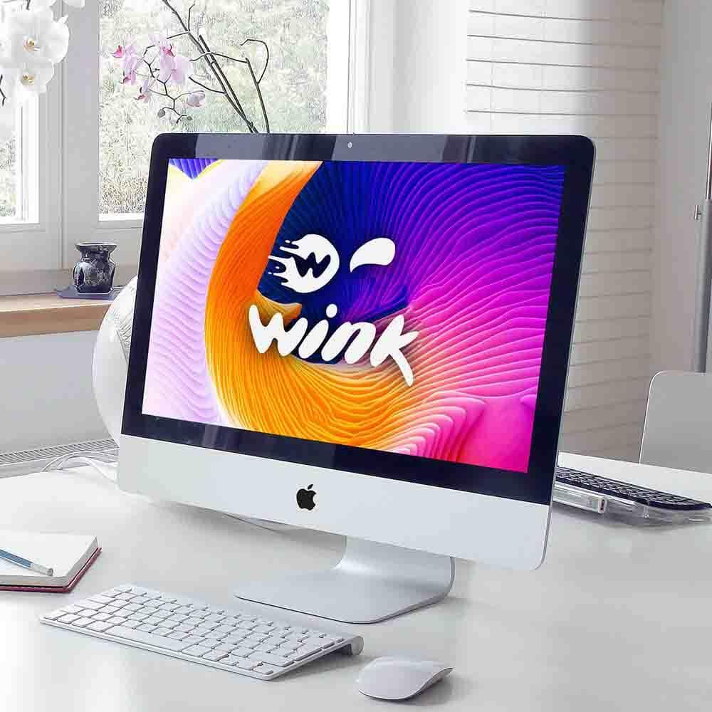 موکاپ کامپیوتر طراحی لوگو وینک