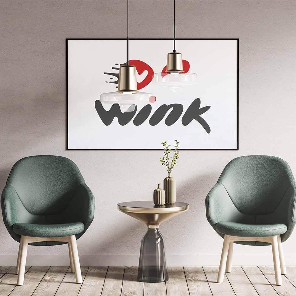 موکاپ پوستر طراحی لوگو وینک