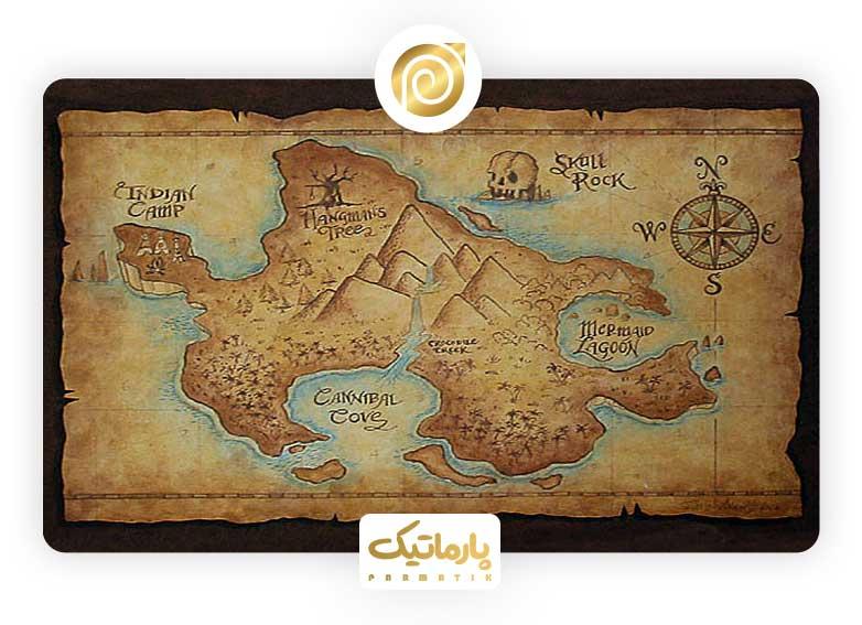 نقشه دزدان دریایی کارائیب