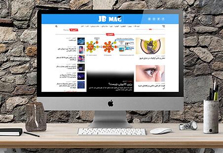 نمونه کار طراحی سایت مجله خبری جینگوبینگو مگ