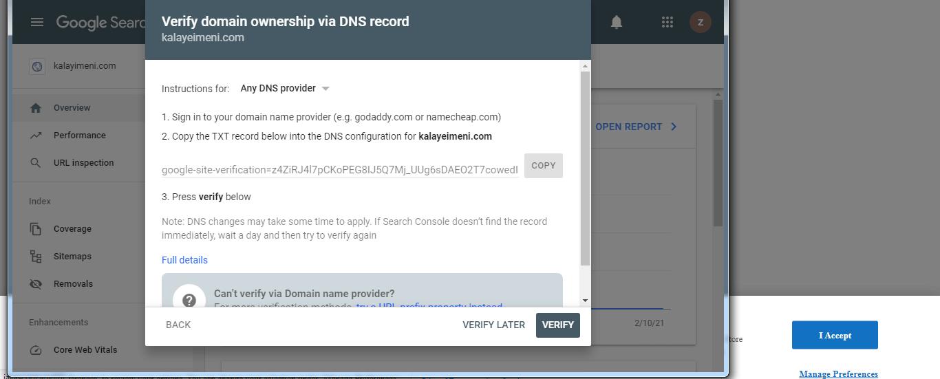 کد ثبت وبمستر